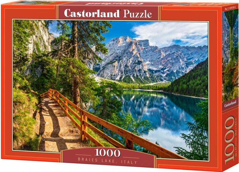 Puzzle Castorland 1000 dílků - Jezero Braise, Italie