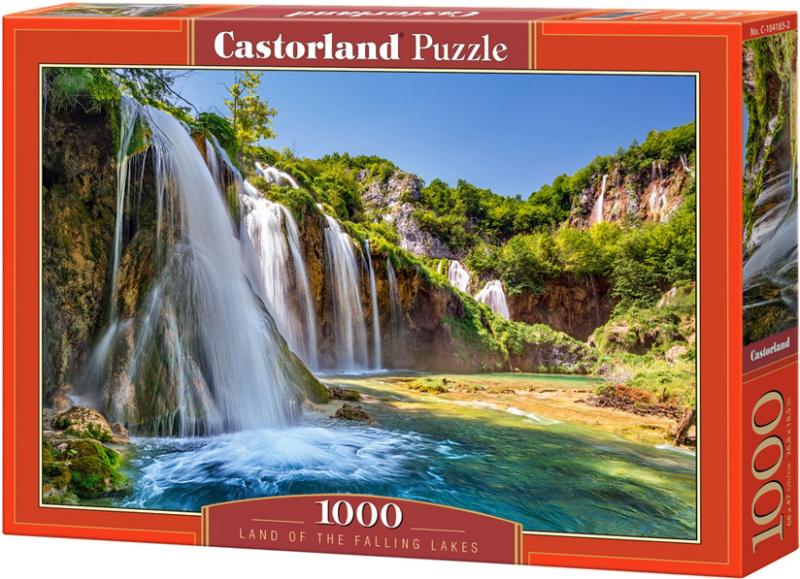 Puzzle Castorland 1000 dílků - Země vodopádů