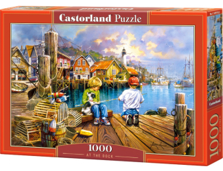 Puzzle 1000 dílků -Děti v doku