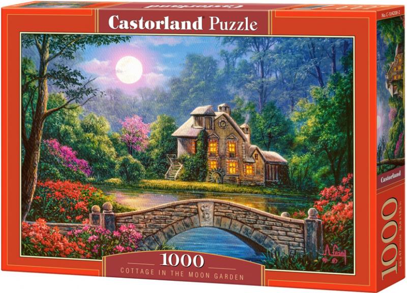 Puzzle Castorland 1000 dílků - Chalupa v měsíční svitu