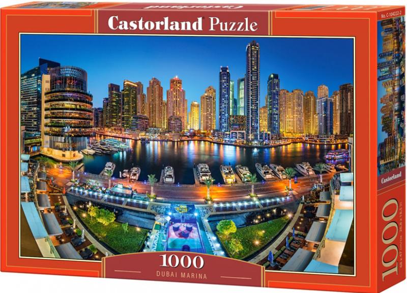 Puzzle Castorland 1000 dílků - Přístav v Dubaji