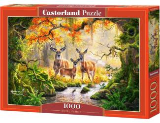 Puzzle 1000 dílků - Srnčí rodinka