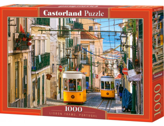 Puzzle Castorland 1000 dílků - Lisabonská tramvaj, Portugalsko