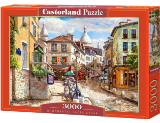 Puzzle Castorland 3000 dílků - Montmanter, Sacre Couer, Paříž