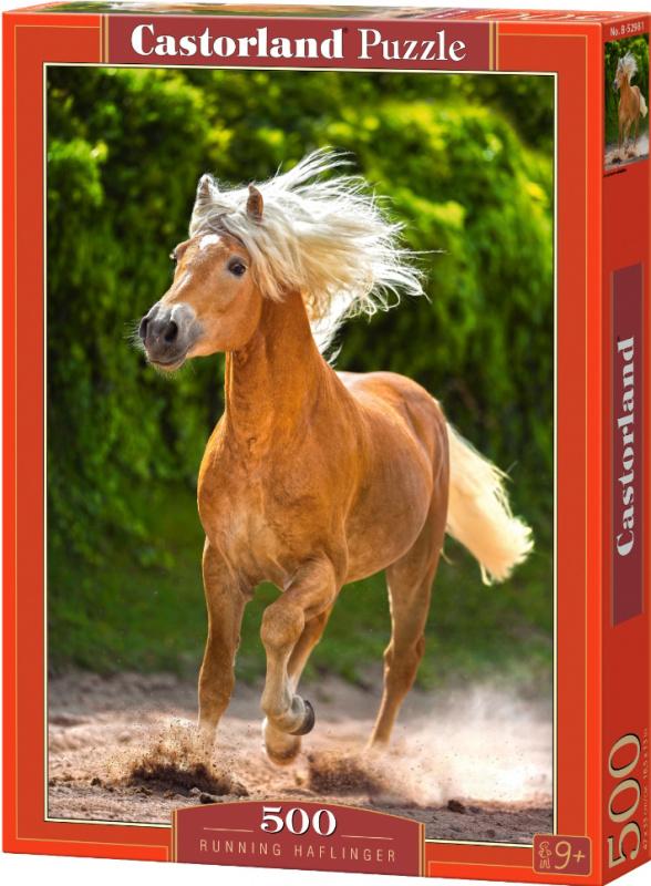 Puzzle Castorland 500 dílků - Hnědý kůň v běhu