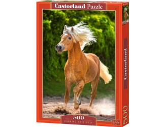 Puzzle 500 dílků- Hnědý kůň v běhu
