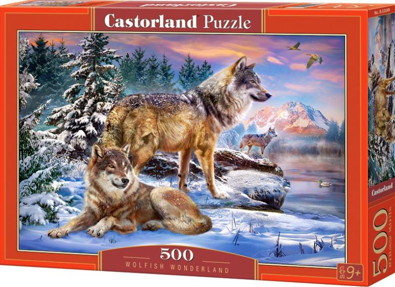 Puzzle Castorland 500 dílků - Vlčí říše