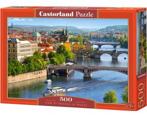 Puzzle Castorland 500 dílků - Výhled na mosty Prahy