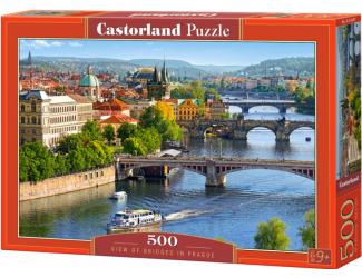 Puzzle 500 dílků- Výhled na mosty Prahy
