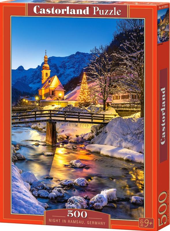 Puzzle Castorland 500 dílků - Noční Ramsau, Německo