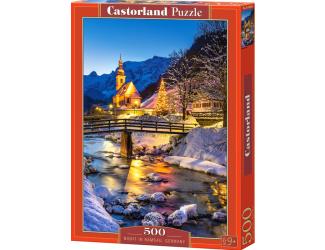 Puzzle 500 dílků- Noční Ramsau, Německo