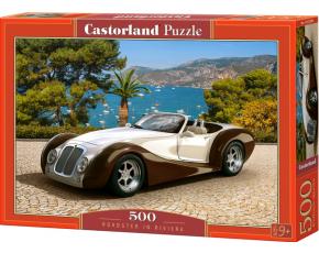 Puzzle Castorland 500 dílků - Auto Roadster na Rivieře