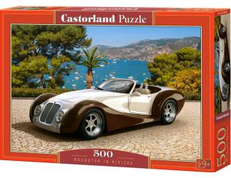 Puzzle 500 dílků - Auto Roadster na Rivieře