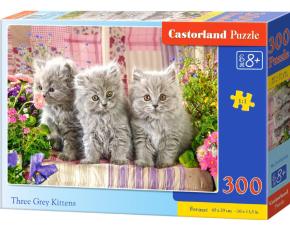 Puzzle 300 dílků- Tři šedivá koťátka