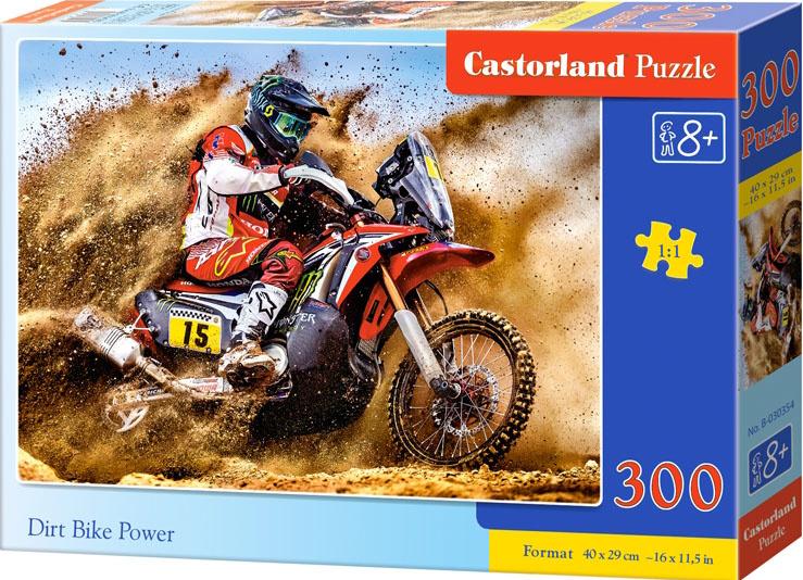Puzzle 300 dílků- Motokrosový závodník na poušti