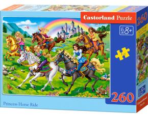 Puzzle Castorland 260 dílků - Princezny na vyjížďce