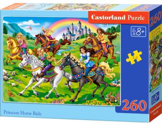 Puzzle 260 dílků - Princezny na vyjížďce