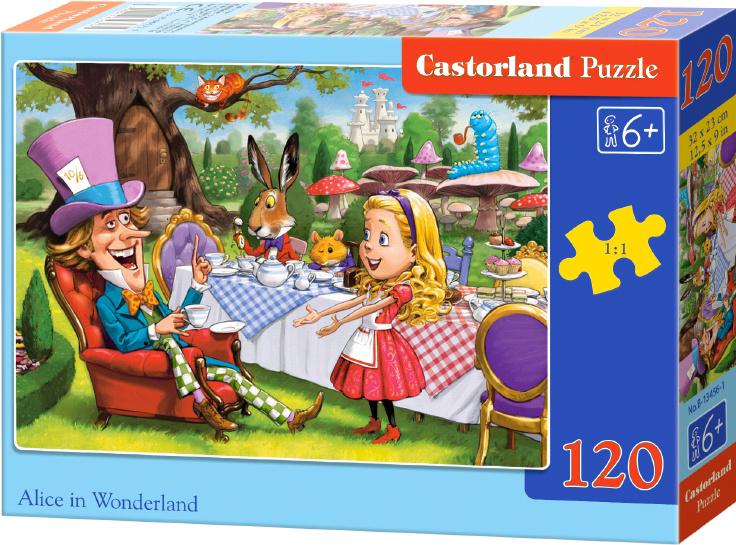 Puzzle Castorland 120 dílků - Alenka v říši divů