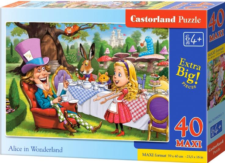 Puzzle Castorland MAXI 40 dílků - Alenka v říši divů
