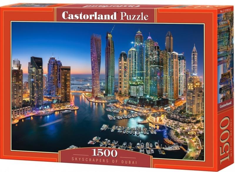 Puzzle Castorland 1500 dílků - Mrakodrapy v Dubaji