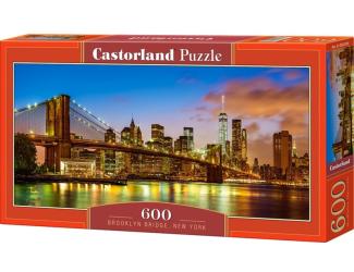 Puzzle 600 dílků - Brooklynský most, New York