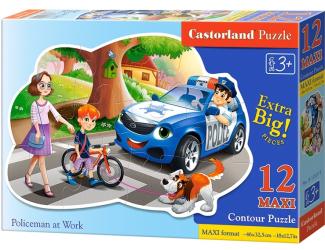Puzzle Castorland Contour MAXI 12 dílků - Policie v akci
