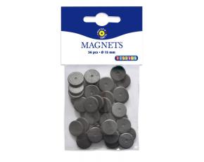 Magnety 36 ks, průměr 15 mm