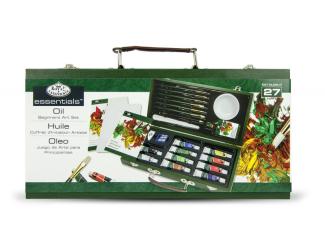 Luxusní sada na malování olejovými barvami v kufříku