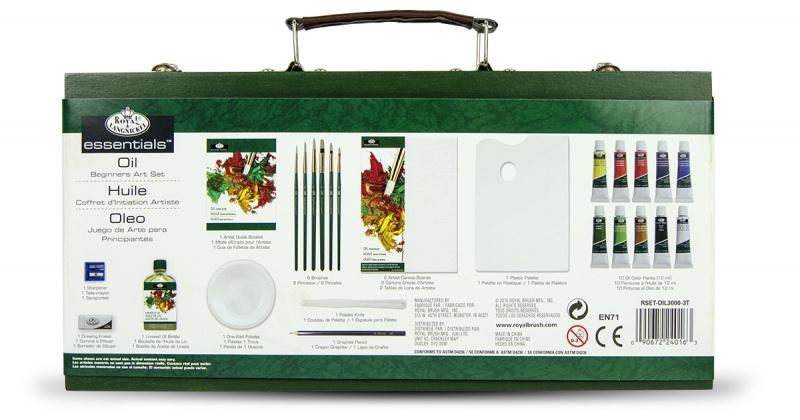 Luxusní sada na malování olejovými barvami v kufříku - RSET-OIL3000