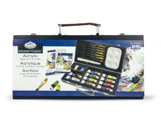 Luxusní sada na malování akrylovými barvami v modrém kufříku