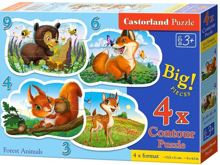 Puzzle Castorland sada 4v1mini - Lesní zvířátka