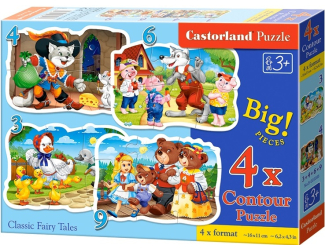 Puzzle Castorland sada 4v1mini - Pohádky