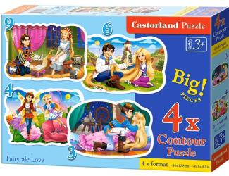 Puzzle Castorland sada 4v1mini - Zamilované pohádky