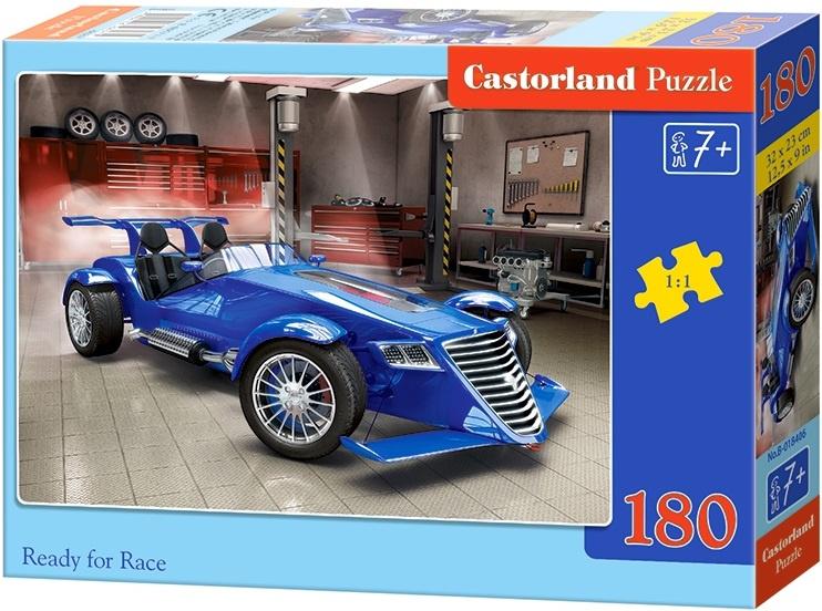 Puzzle Castorland 180 dílků - Připraven na závod - modrá formule