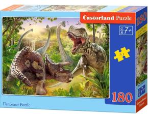 Puzzle Castorland 180 dílků - Dinosauří bitva