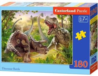 Puzzle 180 dílků - Dinosauří bitva