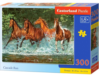 Puzzle 300 dílků- Běžící koně