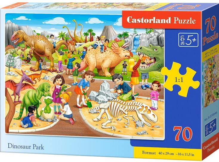 Puzzle Castorland 70 dílků premium - Dinosauří park
