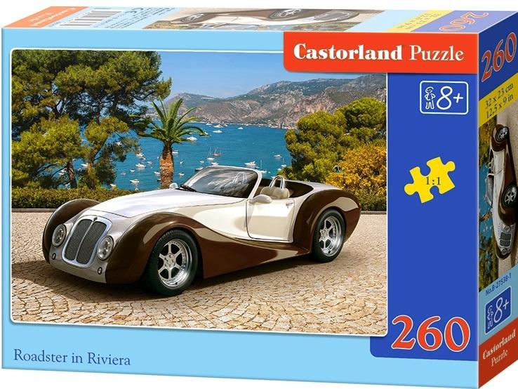 Puzzle Castorland 260 dílků - Auto Roadster na Rivieře