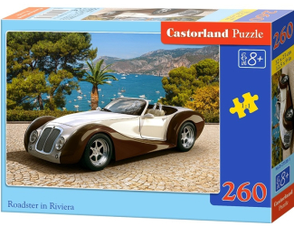 Puzzle 260 dílků - Auto Roadster na Rivieře