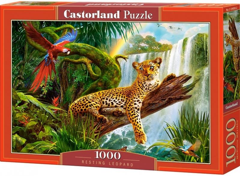 Puzzle Castorland 1000 dílků - Odpočívající Leopard