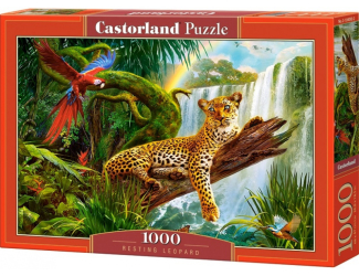 Puzzle 1000 dílků - Odpočívající Leopard