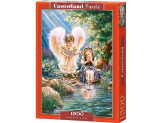 Puzzle 1500 dílků- Andělé nad jezírkem