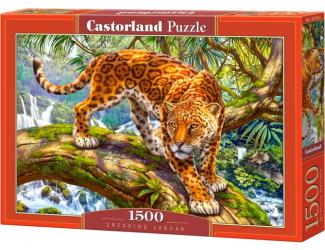 Puzzle 1500 dílků- Plížící se Jaguar