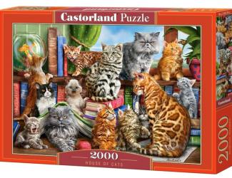 Puzzle 2000 dílků- Kočičí dům
