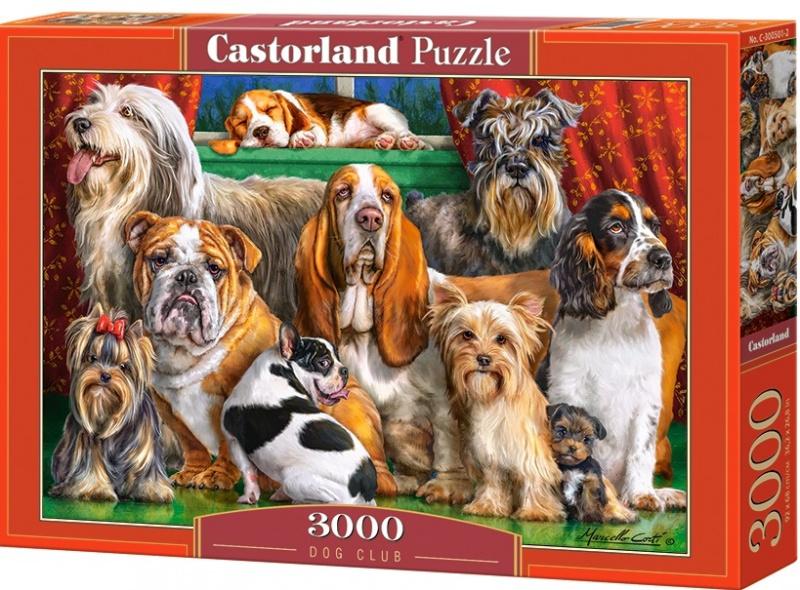 Puzzle Castorland 3000 dílků - Psí klub