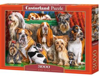 Puzzle 3000 dílků-Psí klub