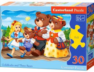 Puzzle 30 dílků - Mášenka a 3 medvědi