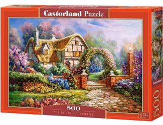 Puzzle 500 dílků-  Wilshirské zahrady (domek s květinovou bránou)