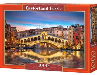 Puzzle 1000 dílků - Rialto most v Benátkách v noci